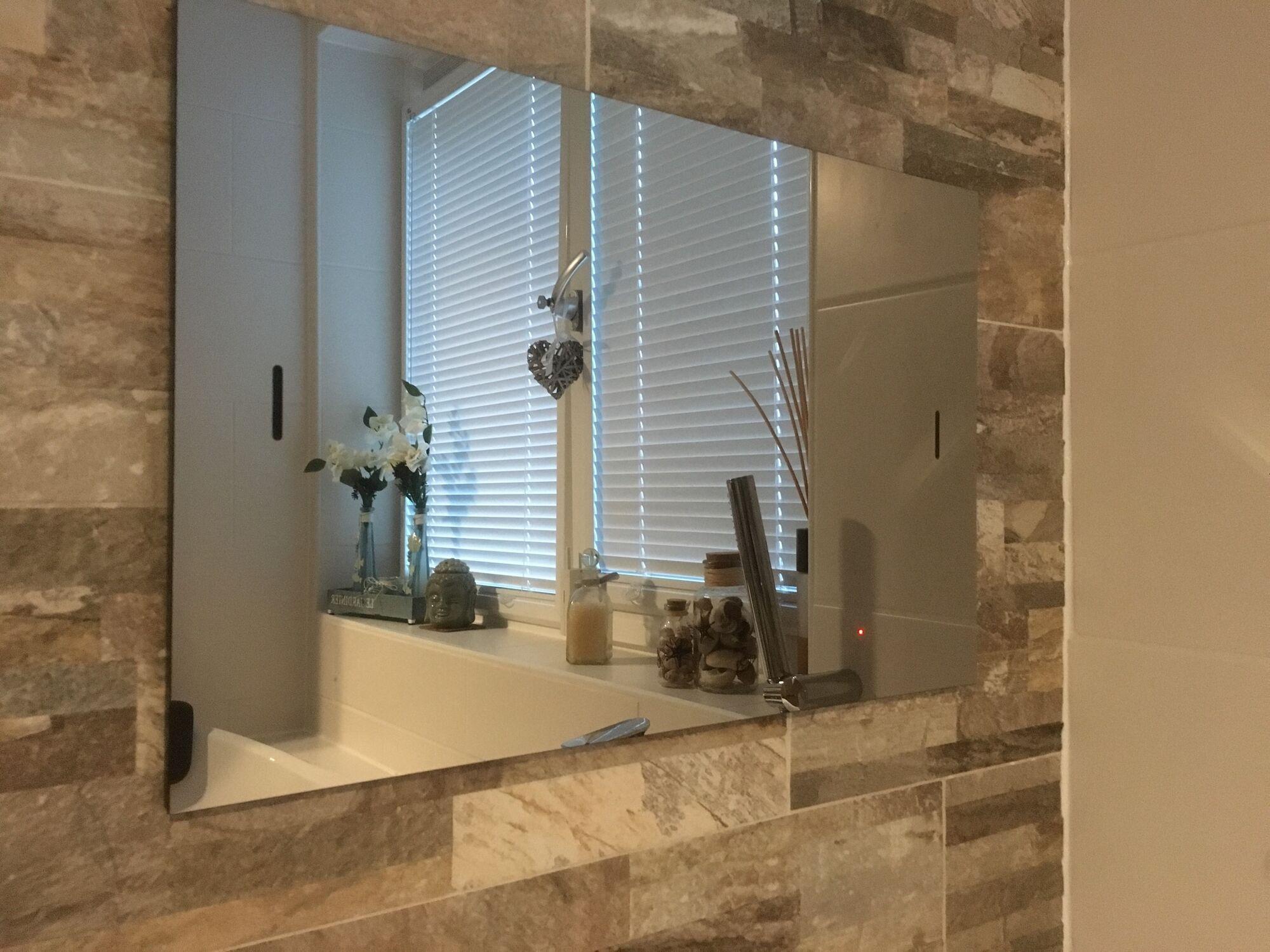 Spiegel inbouwtelevisies van splashvision voor badkamer en tuin spiegel inbouw tv 39 s van 15 t m - Spiegel tv badkamer ...