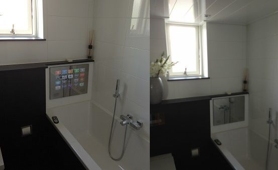 Badkamer tvs met dvb c dvb s en dvb t en ci module voor digitale