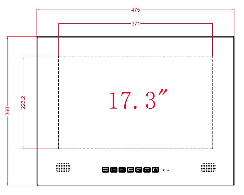 Spiegel televisie 17 inch met DVB-C tuner en internet
