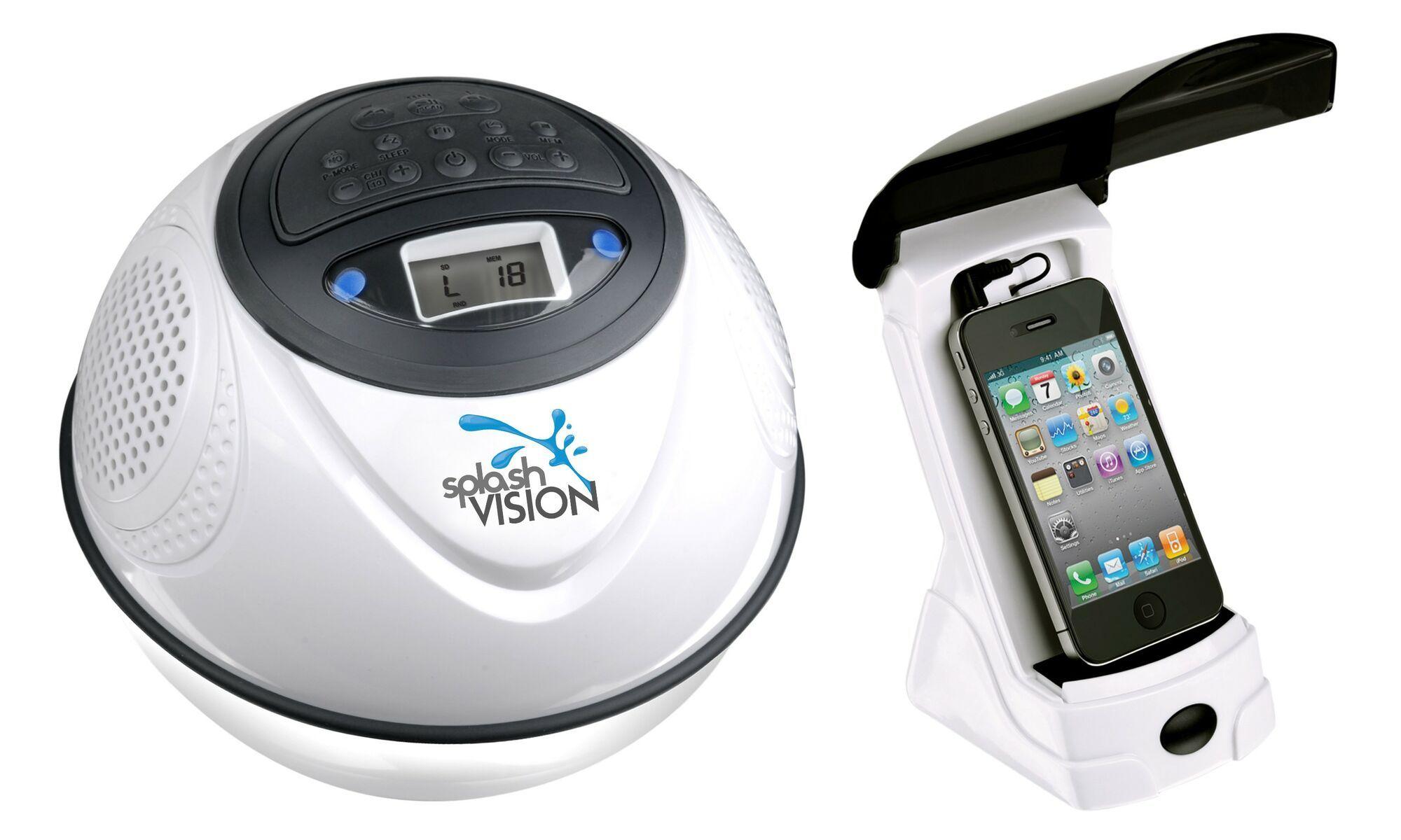 Waterdichte draadloze speaker met Mp3 en FM SplashVision SpeakerBal 2